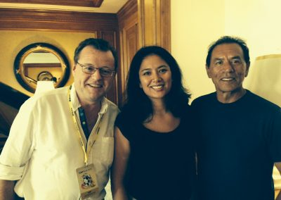 Tripping Through Co-Producers Malcolm Ellis & Michelle Morgan meet Wes Studi
