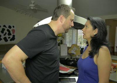 Wayne (played by Brad Watts) breaking up with Karly (played by Michelle Morgan)